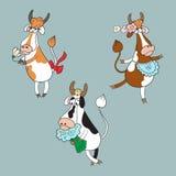 Sammlung mit verschiedenen Kühen Lizenzfreie Stockfotografie
