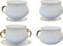 Sammlung mit vier helle Schalen vektor abbildung