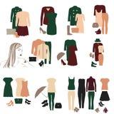 Sammlung moderne Kleidung für Mädchen Lizenzfreie Stockfotos