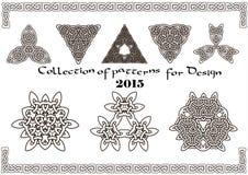 Sammlung Muster für Design 2015 Lizenzfreie Stockfotografie