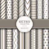 Sammlung nahtlose Muster für Tapeten, Musterfüllen, Netzhintergründe, Geburtstag und Hochzeitskarten stock abbildung