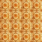 Sammlung orange Musterfliesen stockfotos