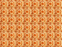 Sammlung orange Musterfliesen stockfotografie