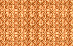 Sammlung orange Musterfliesen lizenzfreies stockbild