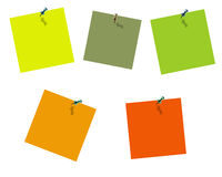Sammlung Post-It Lizenzfreies Stockbild
