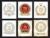 Sammlung Postkarten für den 25. Jahrestag lizenzfreie abbildung