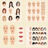 Sammlung Proben für Änderungen in Frauen ` s Auftritt Lizenzfreie Stockbilder