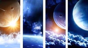 Sammlung Raumfahnen Stockbilder