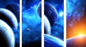 Sammlung Raumfahnen Stockbild