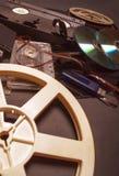 Sammlung Retro- Audio- und Videobänder Lizenzfreies Stockfoto