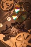 Sammlung Retro- Audio- und Videobänder Lizenzfreies Stockbild