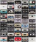 Sammlung Retro Magnetbänder für Tonaufzeichnunge stockbild