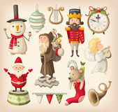 Sammlung Retro- Weihnachtsspielwaren Lizenzfreies Stockfoto
