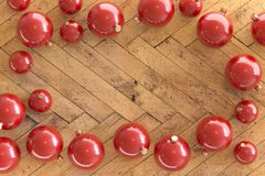 Sammlung roter Weihnachtsflitter stockfotografie
