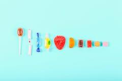 Sammlung Süßigkeiten Stockbilder