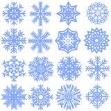 Sammlung Schneeflocken vektor abbildung