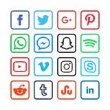 Sammlung Social Media-Ikonen Lizenzfreie Stockbilder