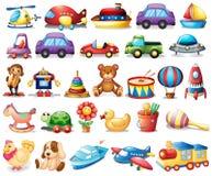 Sammlung Spielwaren Stockbild