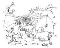 Sammlung Spinnennetz lokalisierter transparenter Hintergrund Spiderweb für Halloween-Design Spinnennetzelemente gespenstisch und stock abbildung