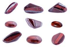 Sammlung Stein- Mineral-Stier-` s Augen-roten Tiger ` s Auges Lizenzfreies Stockbild
