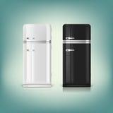 Sammlung stilvolle Retro- Kühlschränke Lizenzfreies Stockbild