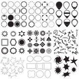 Sammlung Symbole und Aufkleber lizenzfreie abbildung
