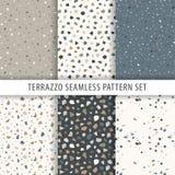 Sammlung Terrazzohintergründe Nahtloses Muster stock abbildung