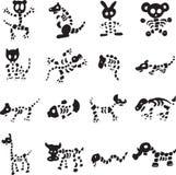 Sammlung tierische Skeleton Vektoren Stockbild