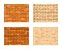 Sammlung unterschiedliche Farbe der Ziegelsteine auf weißem Hintergrund Lizenzfreies Stockfoto
