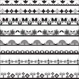 Sammlung unterschiedliche Spitze für Design Stockfotos