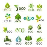 Sammlung Vektorlogos eco Lizenzfreie Stockfotos
