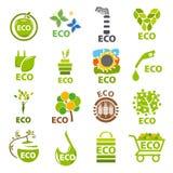 Sammlung Vektorlogos eco Lizenzfreie Stockbilder