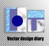 Sammlung Vektorspott herauf Notizbücher mit stilvollem Entwurf vektor abbildung
