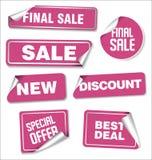 Sammlung Verkaufsaufkleber- und -Tagdesign Stockfotos