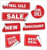 Sammlung Verkaufsaufkleber- und -Tagdesign Lizenzfreie Stockfotos