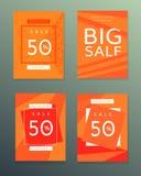 Sammlung Verkaufsherbstfahnen Lizenzfreie Stockbilder