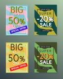 Sammlung Verkaufsherbstfahnen Lizenzfreies Stockfoto