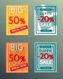 Sammlung Verkaufsherbstfahnen Stockfotos