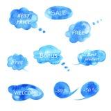 Sammlung verschiedene Blasen für Rede stock abbildung