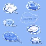 Sammlung verschiedene Blasen für Rede vektor abbildung