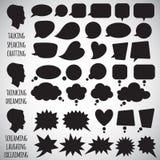 Sammlung verschiedene Rede sprudelt Formen Stockfoto