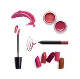Sammlung verschiedener Lippenstift Stockfotografie