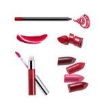 Sammlung verschiedener Lippenstift Lizenzfreie Stockfotos