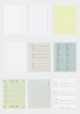Sammlung verschiedenes Papier Stockbilder