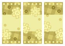 Sammlung vertikale Karten mit Blumen Lizenzfreie Stockfotos
