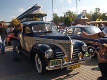 Sammlung von alten Autos Stockfoto