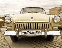 Sammlung von alten Autos, Moskau Stockfotos