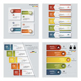 Sammlung von 4 bunten Darstellungsschablonen des Designs Es kann für Leistung der Planungsarbeit notwendig sein Stockfotos