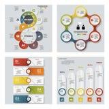 Sammlung von 4 bunten Darstellungsschablonen des Designs Es kann für Leistung der Planungsarbeit notwendig sein Stockfotografie
