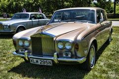Sammlung von Rolls Royce und von anderen Luxusautomobilen in Asheville-North Carolina USA lizenzfreie stockfotos